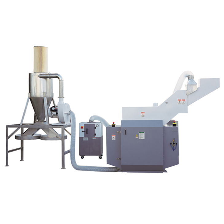 Discs crusher& auto packaged & dusty arrester and waste air collection system